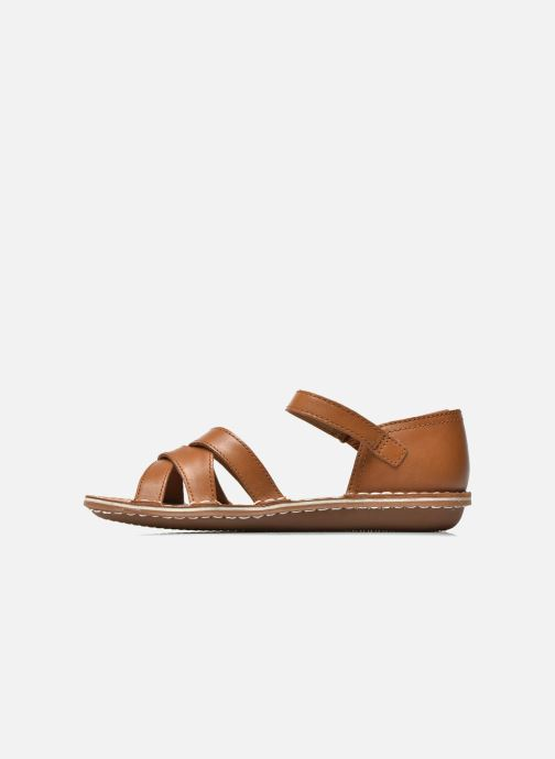 Sandals Clarks Tustin Sahara Brown front view