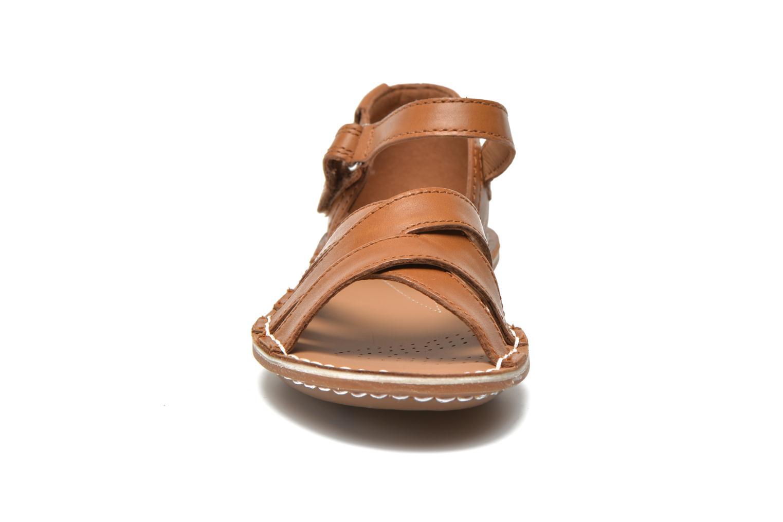 Sandales et nu-pieds Clarks Tustin Sahara Marron vue portées chaussures