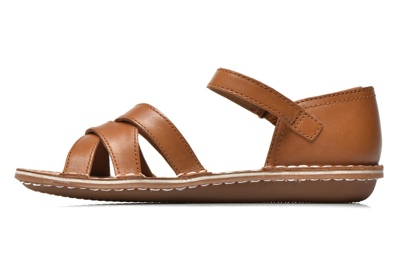 Sandales et nu-pieds Clarks Tustin Sahara Marron vue face