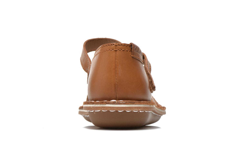 Sandales et nu-pieds Clarks Tustin Sahara Marron vue droite