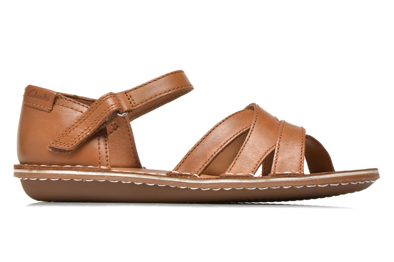 Sandales et nu-pieds Clarks Tustin Sahara Marron vue derrière