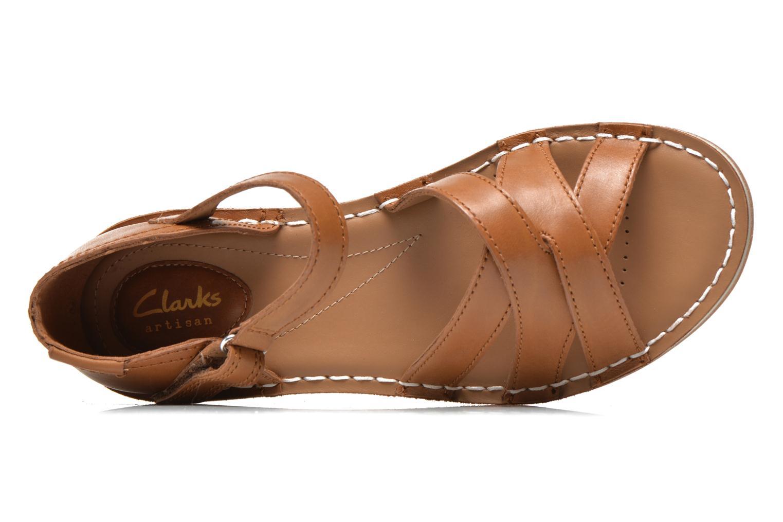 Sandales et nu-pieds Clarks Tustin Sahara Marron vue gauche