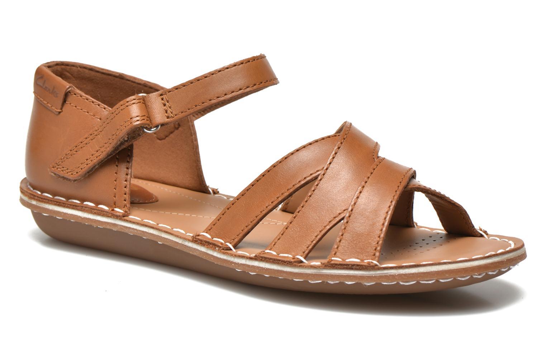 Sandales et nu-pieds Clarks Tustin Sahara Marron vue détail/paire