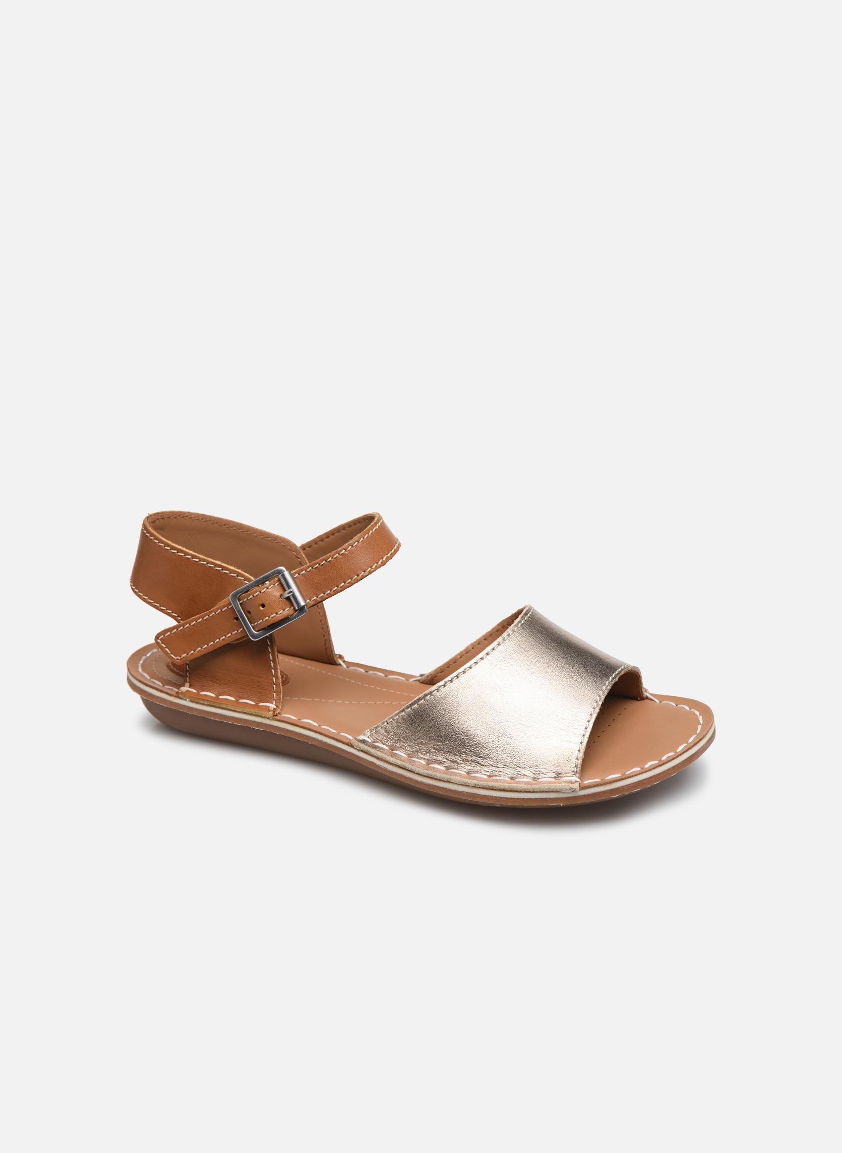 Sandales et nu-pieds Clarks Tustin Sinitta Or et bronze vue détail/paire