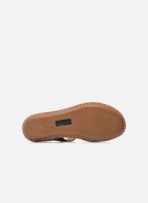 Sandali e scarpe aperte Clarks Tustin Spears Nero immagine dall'alto