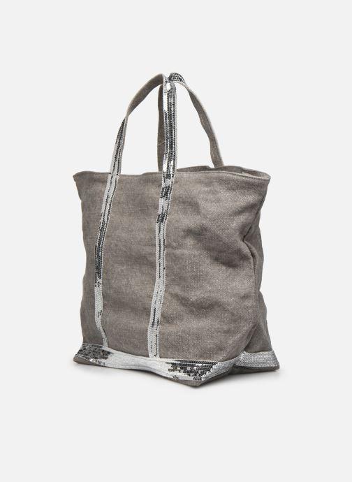 Handtaschen Vanessa Bruno Cabas Lin paillettes M+ grau ansicht von rechts
