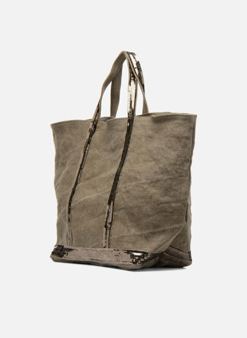 Handtassen Vanessa Bruno Cabas Lin paillettes M+ Groen model