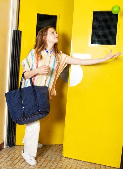 Handtassen Vanessa Bruno Cabas Lin paillettes M+ Blauw boven