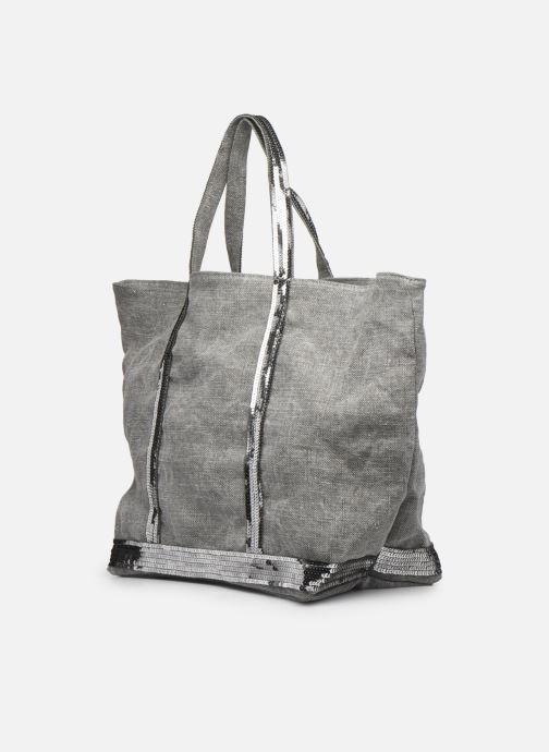 Handtaschen Vanessa Bruno Cabas Lin paillettes M+ grau schuhe getragen