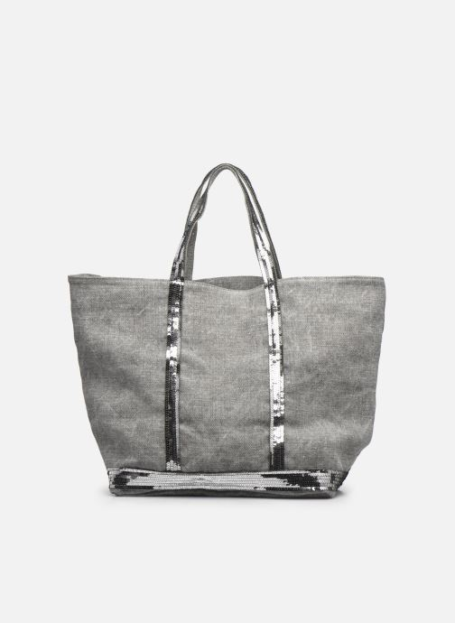 Handtaschen Vanessa Bruno Cabas Lin paillettes M+ grau ansicht von vorne