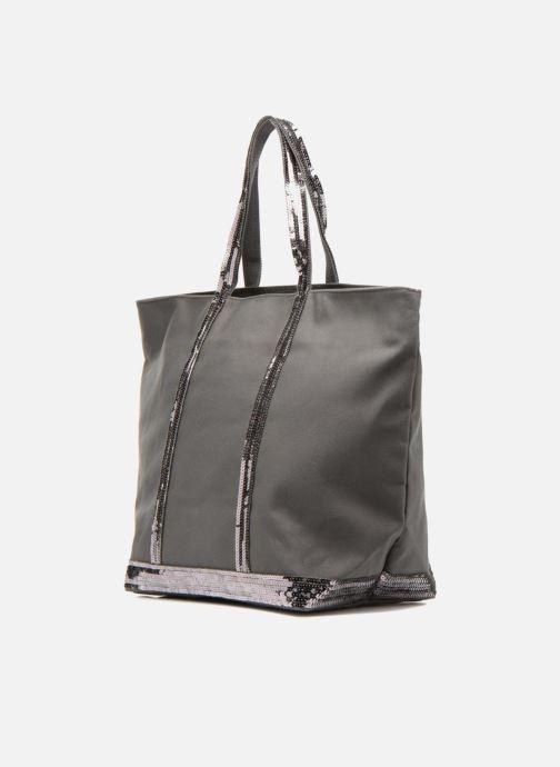 Handtassen Vanessa Bruno Cabas Coton M+ Zip Grijs model