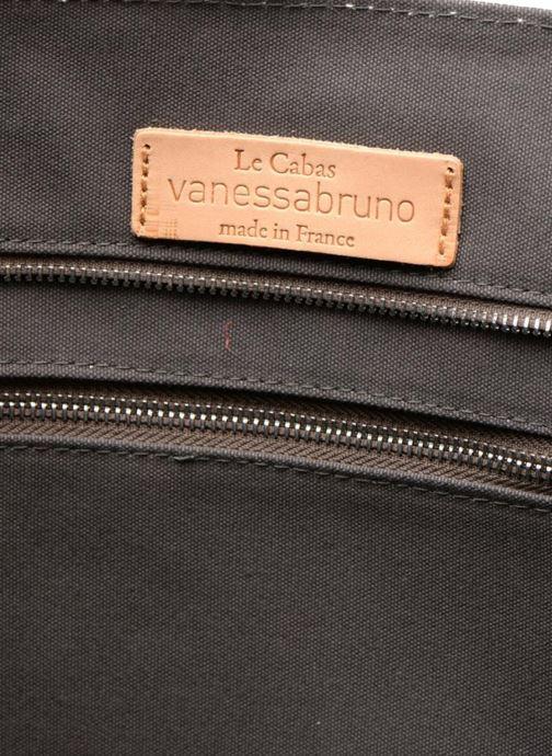 Handtassen Vanessa Bruno Cabas Coton M+ Zip Grijs achterkant