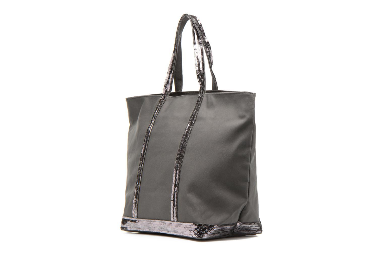 Handbags Vanessa Bruno Cabas Coton M+ Zip Grey model view
