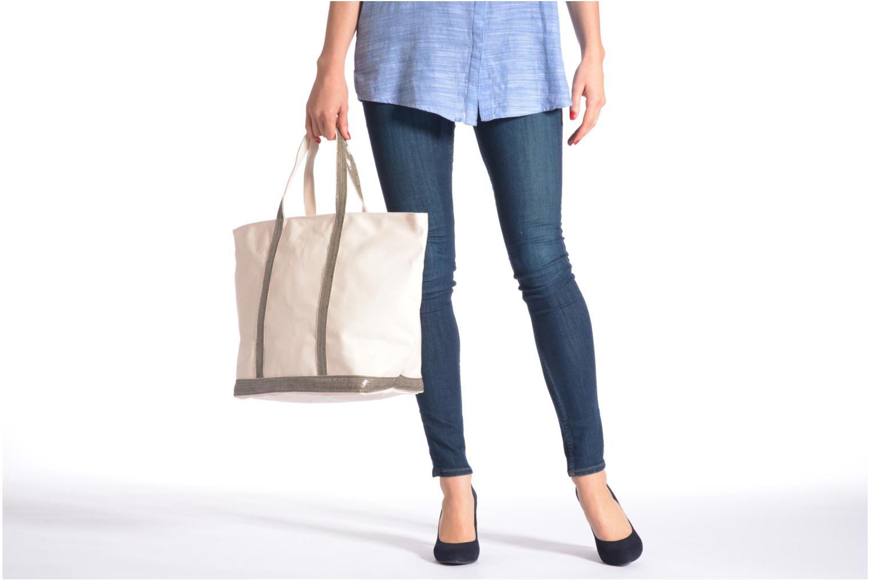 Handbags Vanessa Bruno Cabas Coton M+ Zip Grey view from above