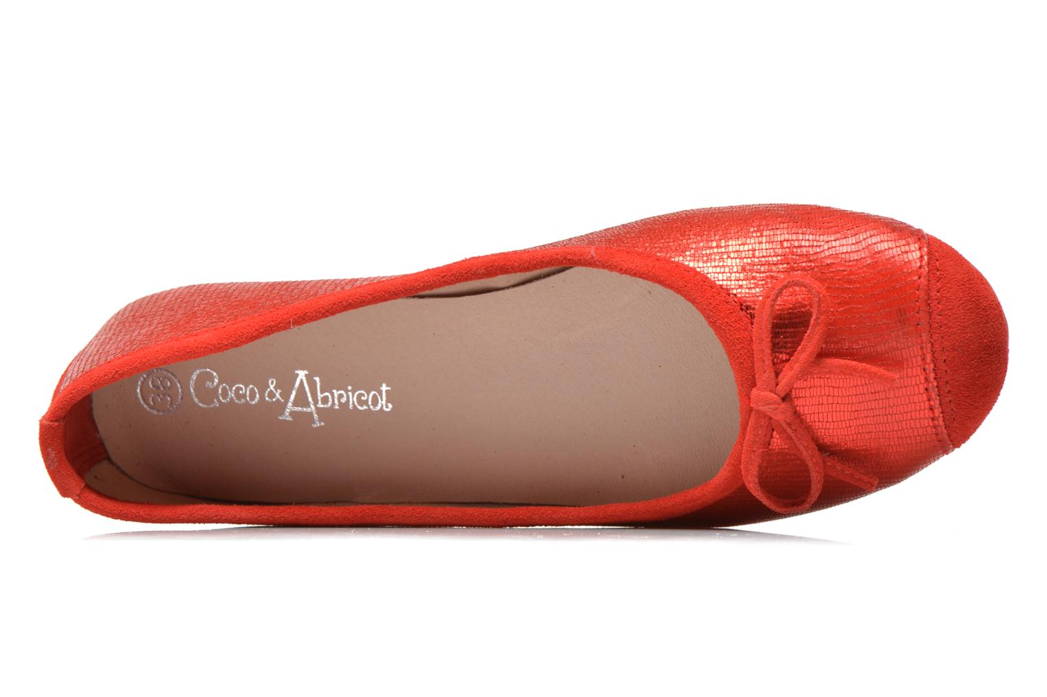 Ballet pumps Coco et abricot Belline 3 Red view from the left