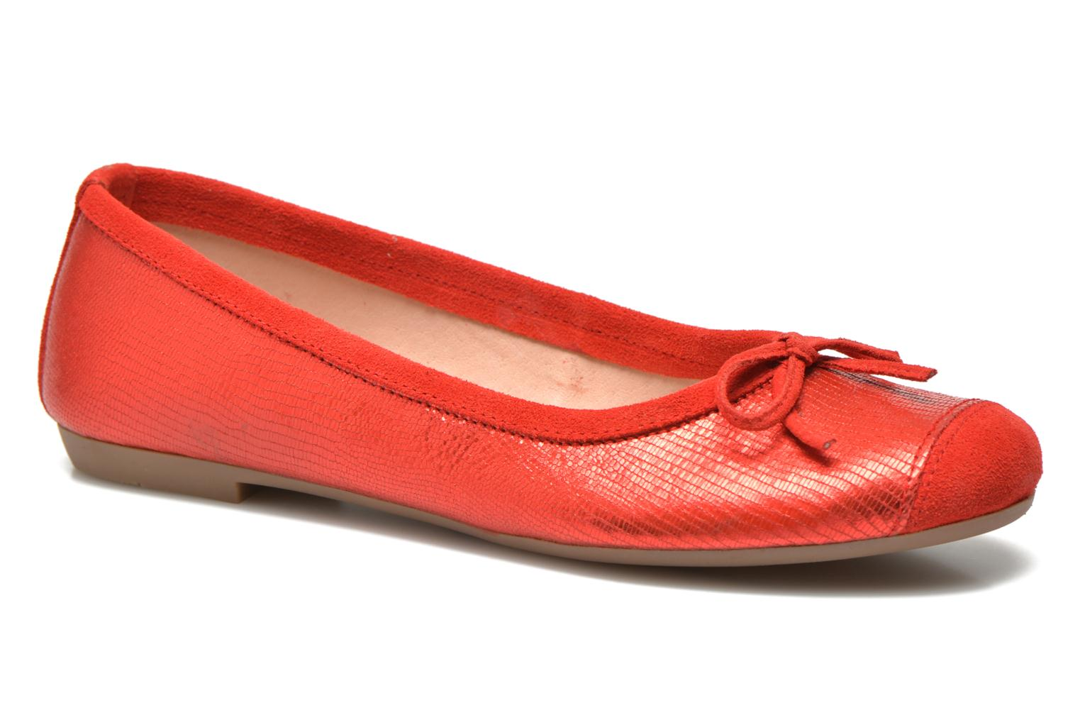 Ballet pumps Coco et abricot Belline 3 Red detailed view/ Pair view