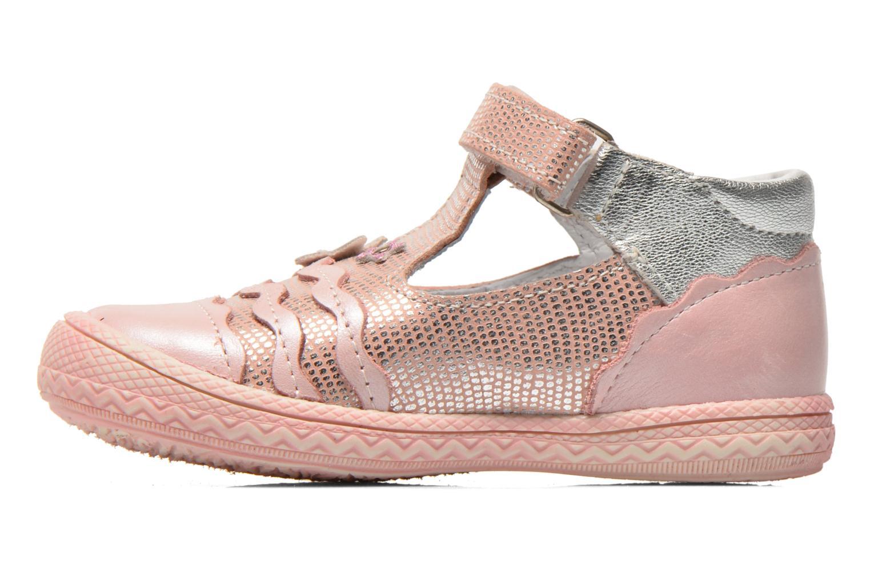 Zapatos con velcro Bopy Balina Rosa vista de frente
