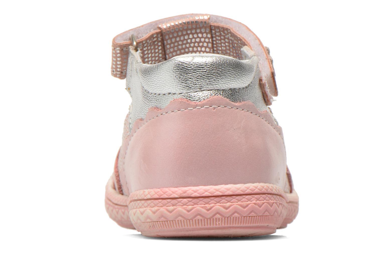 Zapatos con velcro Bopy Balina Rosa vista lateral derecha