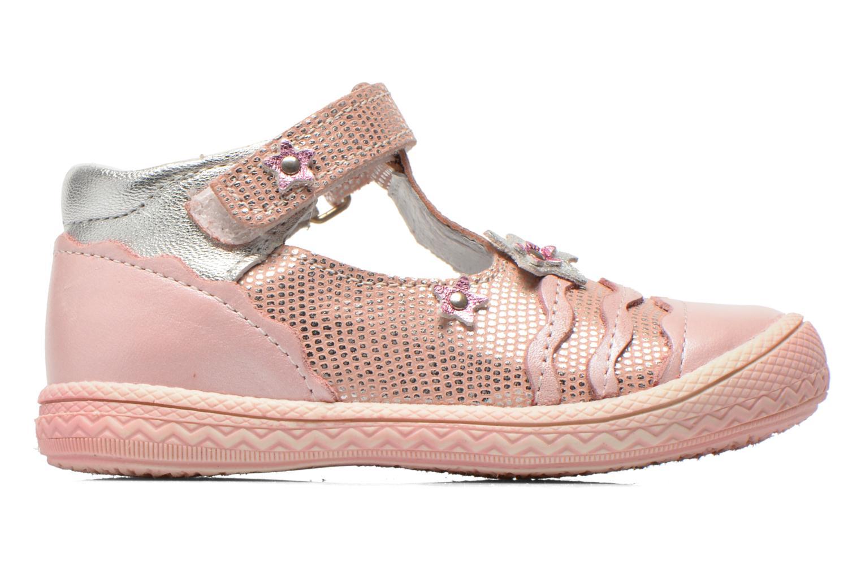Zapatos con velcro Bopy Balina Rosa vistra trasera