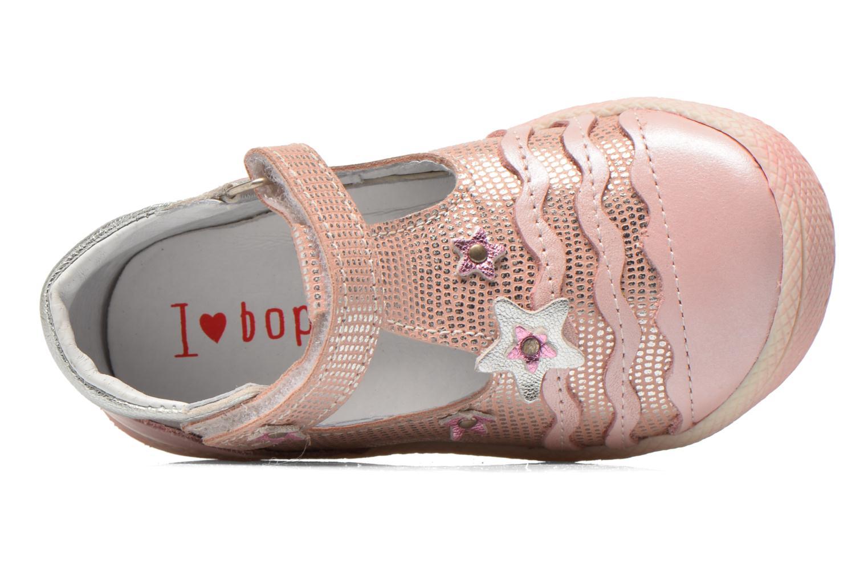 Zapatos con velcro Bopy Balina Rosa vista lateral izquierda