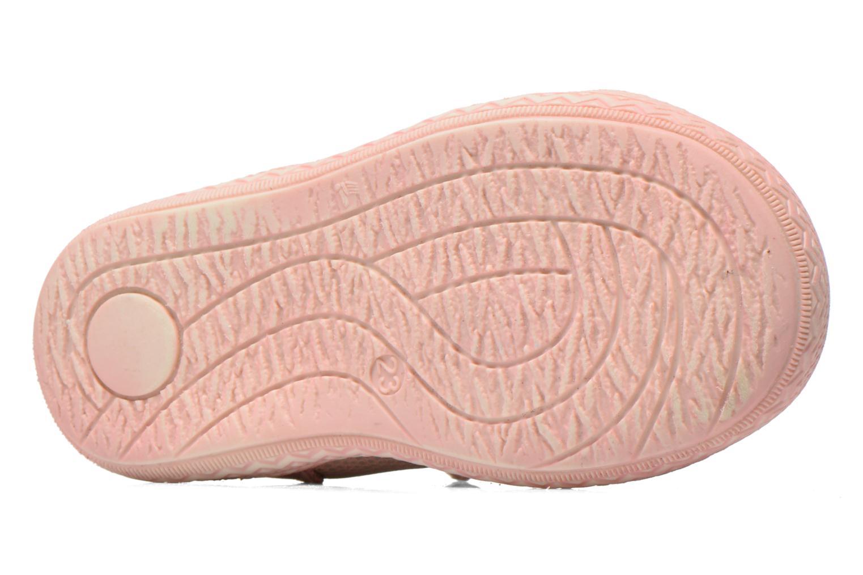 Zapatos con velcro Bopy Balina Rosa vista de arriba