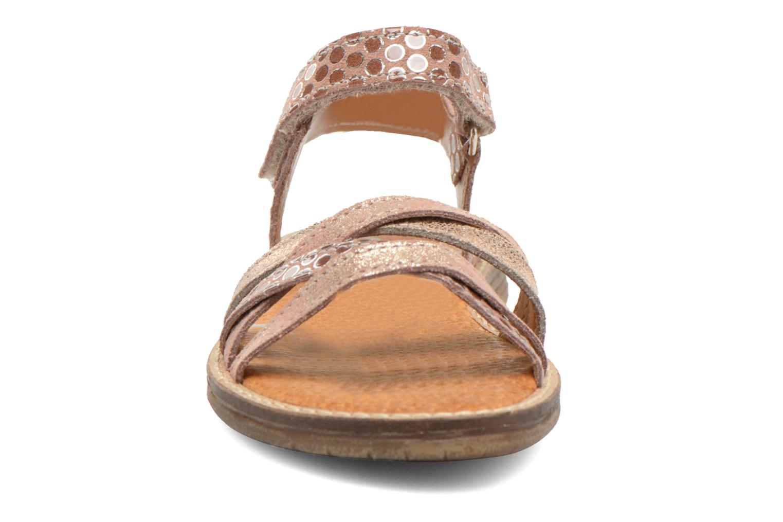 Sandales et nu-pieds Bopy Editara Marron vue portées chaussures