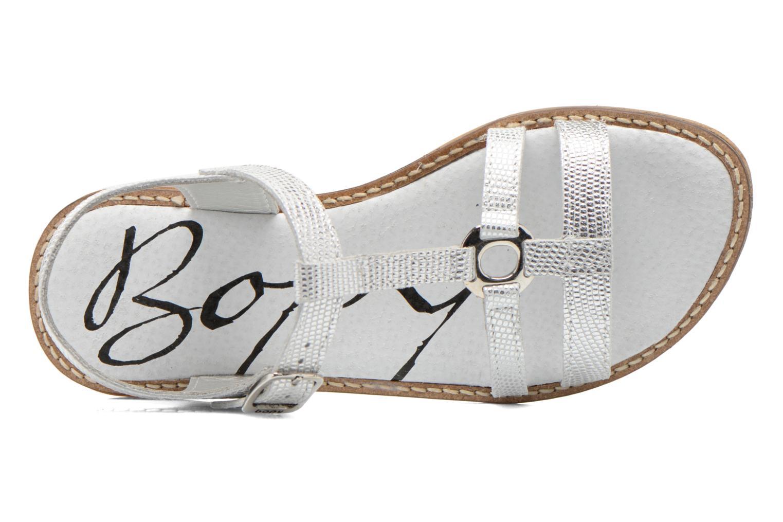 Sandales et nu-pieds Bopy Elea Argent vue gauche