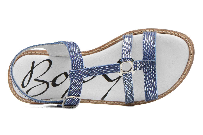 Sandales et nu-pieds Bopy Elea Bleu vue gauche