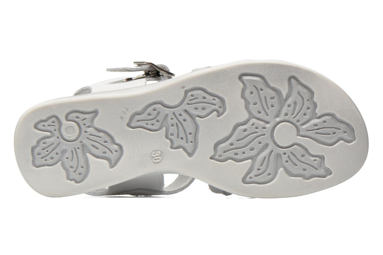 Sandales et nu-pieds Bopy Elodine Blanc vue haut