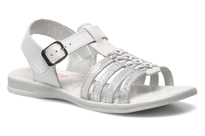 Sandales et nu-pieds Bopy Elodine Blanc vue détail/paire