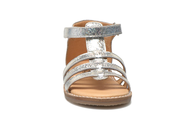 Sandalen Bopy Hapela kouki silber schuhe getragen