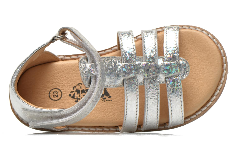 Sandales et nu-pieds Bopy Hapela kouki Argent vue gauche