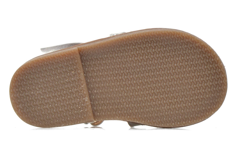 Sandalen Bopy Hapela kouki silber ansicht von oben