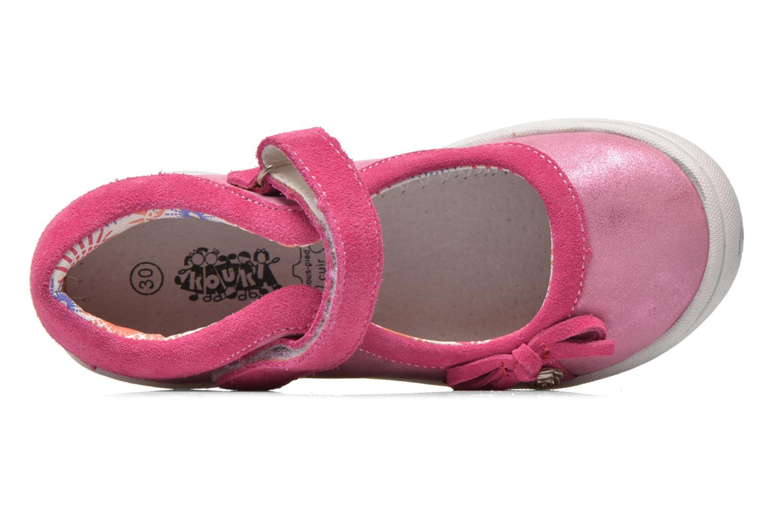 Ballet pumps Bopy Nocia Pink view from the left