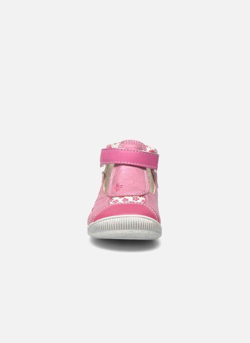 Bottines d'été Bopy Noriane Rose vue portées chaussures