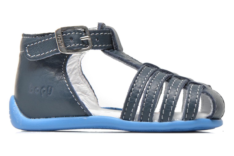 Sandales et nu-pieds Bopy Pablo Bleu vue derrière