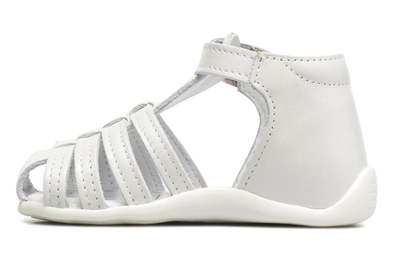 Sandales et nu-pieds Bopy Paula Blanc vue face