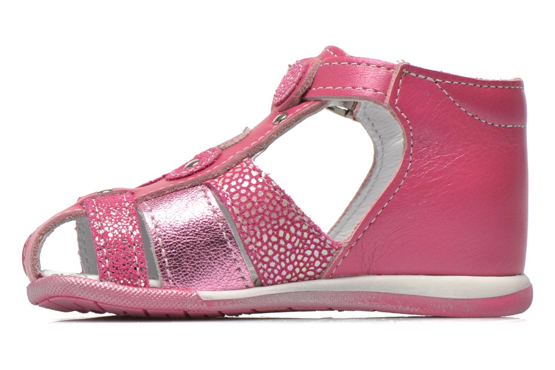 Sandales et nu-pieds Bopy Zebule Rose vue face
