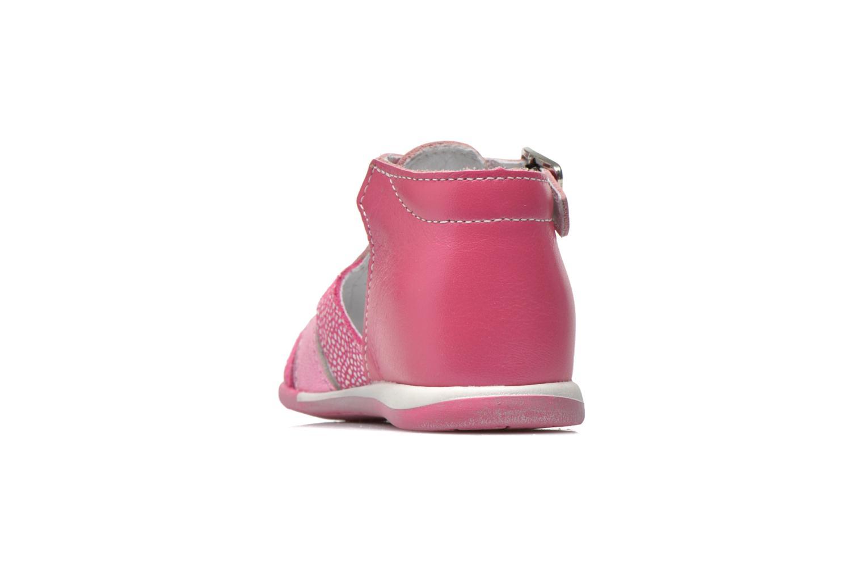 Sandales et nu-pieds Bopy Zebule Rose vue droite