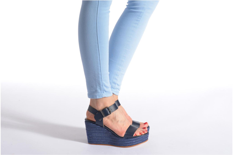 Sandales et nu-pieds Made by SARENZA Menthe Hello #18 Bleu vue bas / vue portée sac