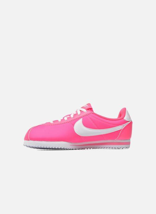 Deportivas Nike Cortez Nylon (Gs) Rosa vista de frente