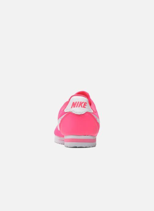 Deportivas Nike Cortez Nylon (Gs) Rosa vista lateral derecha