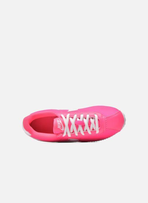 Deportivas Nike Cortez Nylon (Gs) Rosa vista lateral izquierda