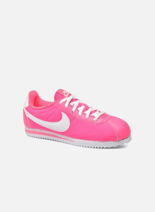 Deportivas Nike Cortez Nylon (Gs) Rosa vista de detalle / par