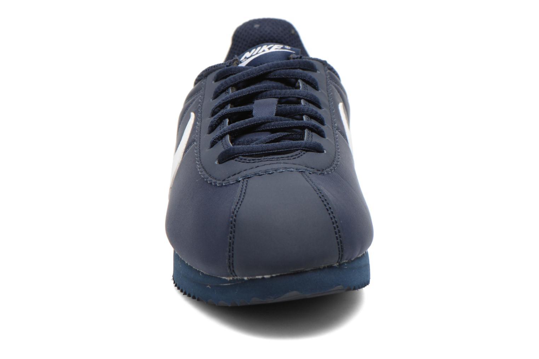 Baskets Nike Cortez Nylon (Gs) Bleu vue portées chaussures