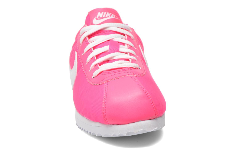 Baskets Nike Cortez Nylon (Gs) Rose vue portées chaussures