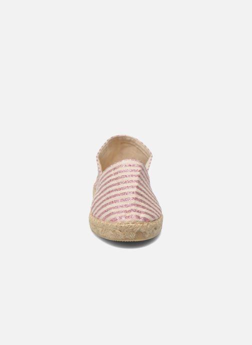Espadrilles La maison de l'espadrille Lady Sabline E Rose vue portées chaussures