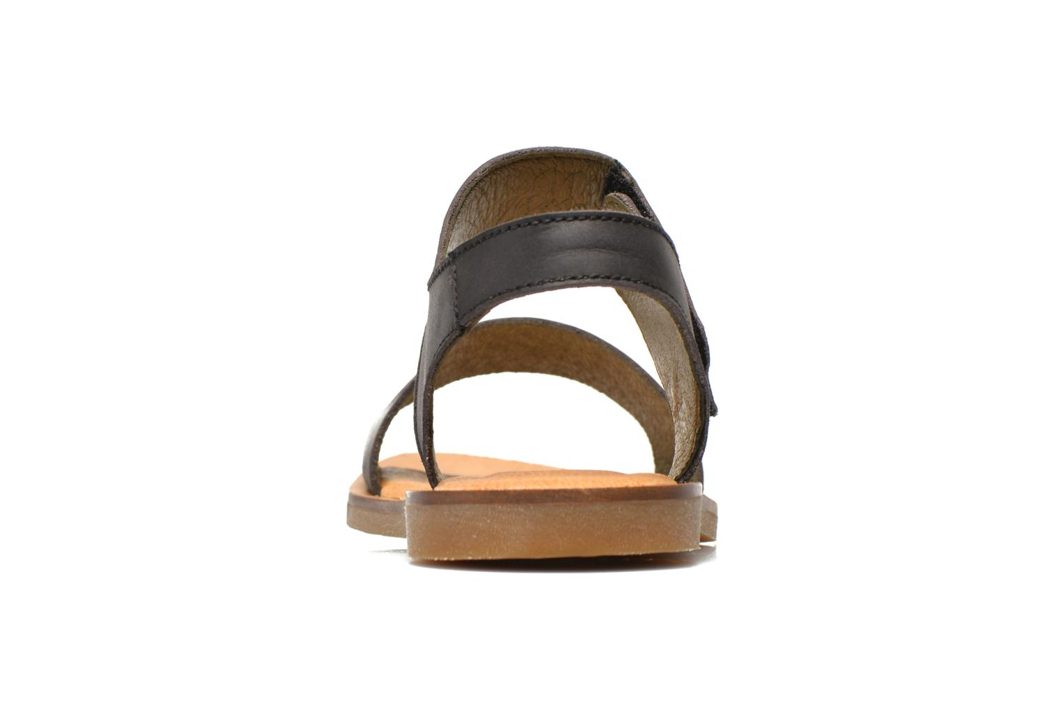 Sandals El Naturalista Tulip NF30 Black view from the right