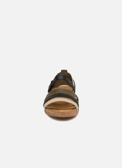 Sandales et nu-pieds El Naturalista Zumaia NF42 Vert vue portées chaussures