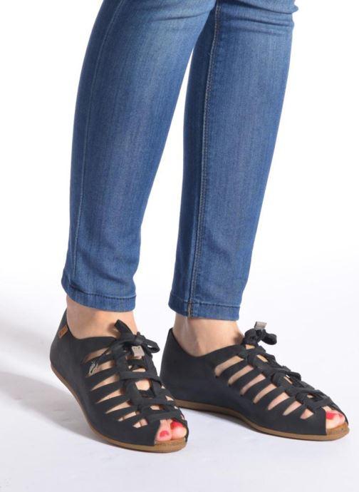 Scarpe con lacci El Naturalista Stella ND52 Nero immagine dal basso